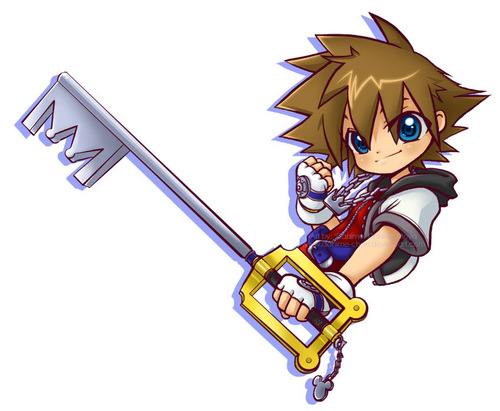 kingdom hearts fondo de pantalla possibly containing a calle entitled chibi Sora