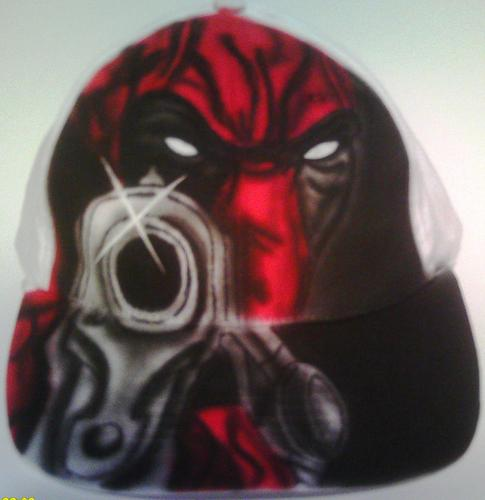 Deadpool airbrushed hat سے طرف کی Mesey Art
