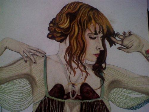 Florence + The Machine karatasi la kupamba ukuta probably containing anime entitled Drawing