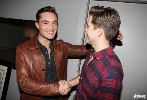 "Ed Westwick Visits Broadway's ""Catch Me If You Can"""