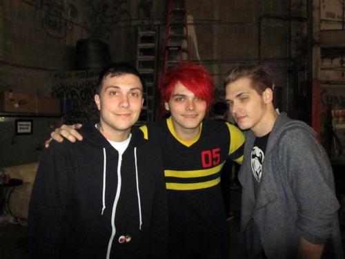 Gerard way,Mikey way & Frank iero
