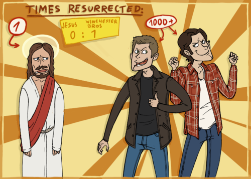 Supernatural wolpeyper containing anime called God VS. Winchesters