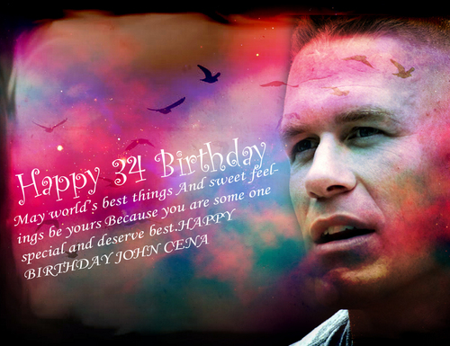 WWE wallpaper probably containing a sign titled Happy Birthday John Cena