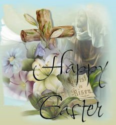 Hesus wolpeyper titled Happy Easter