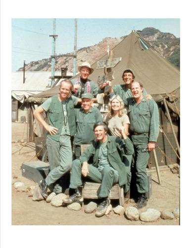 Hawkeye and the cast of M*A*S*H