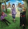 Hinata , karin and Temari