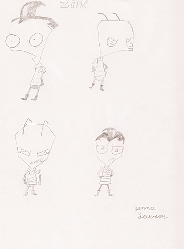 Invader Zim drawings