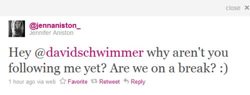 J. Aniston Twitter :)