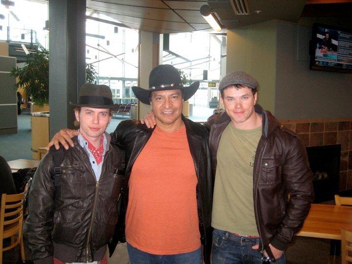 Jackson, Gil and Kellan on set of BD
