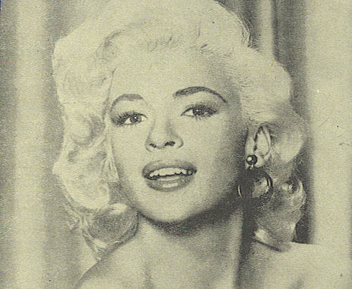 sinema bora karatasi la kupamba ukuta possibly containing a portrait entitled Jayne Mansfield
