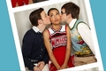 Kurt, Santana, and Artie