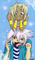 Marik annoying Yami Bakura - bakura-and-marik photo