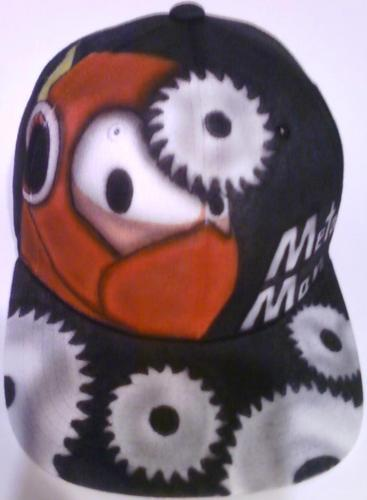 Metal Man airbrushed hat by Mesey Art