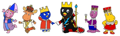 The Backyardigans Hintergrund probably with scissors called Monarchs