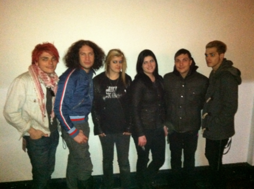 My Chemical Romance with fans