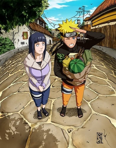naruto shippuden wallpaper possibly containing a diving suit titled naruto and Hinata