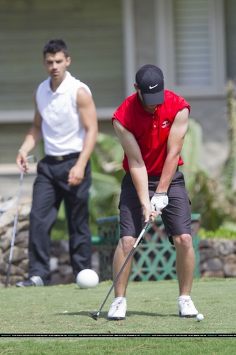 Nick e Joe jogando golfe no Hava