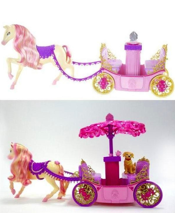 PCS' toys: School carriage and horse - barbie-movies photo