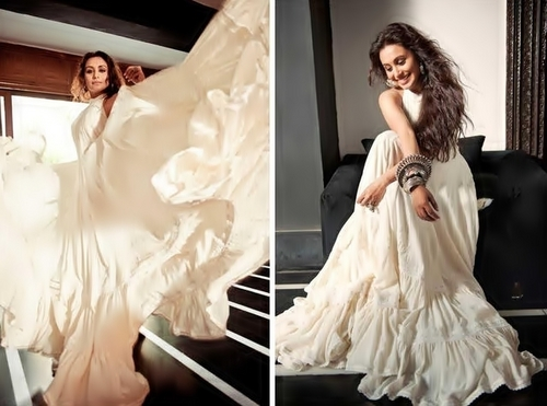 Rani Mukherjee wallpaper possibly containing a gown, a dinner dress, and a bridal gown called Rani  --  Filmfare Photoshooting 2011