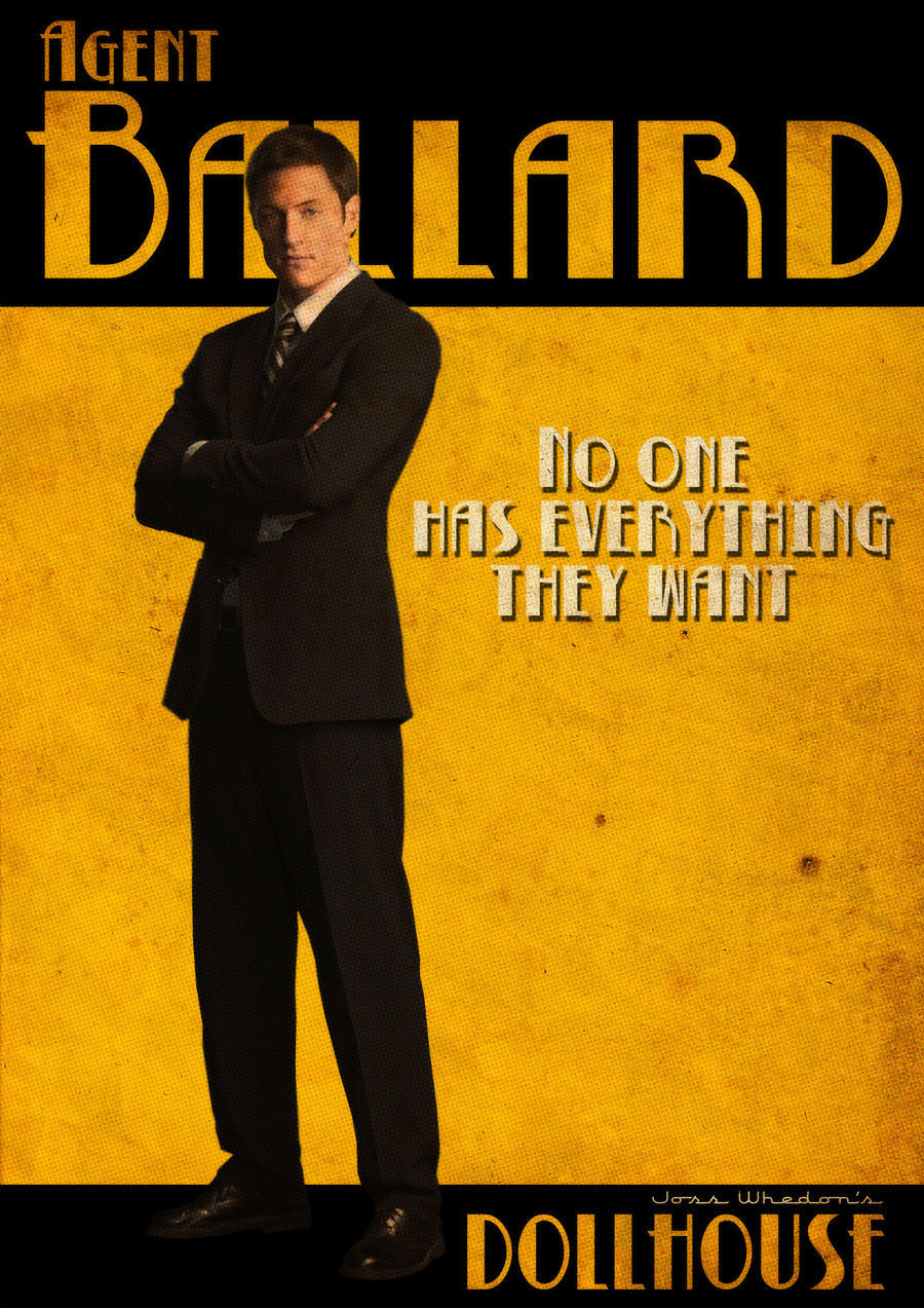 Agent Ballard Retro Poster