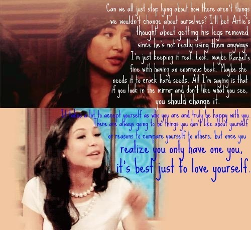 Santana and Naya, such opposites!