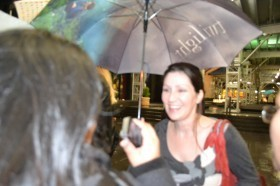 Sara Gruen & her Twilight Umbrella