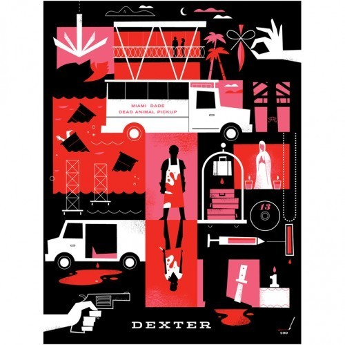Season 5 silk-screen poster - dexter Fan Art