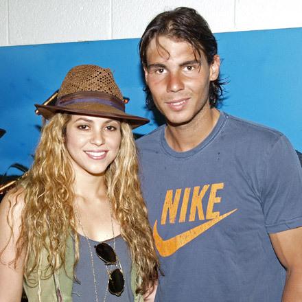 Shakira with Rafael Nadal
