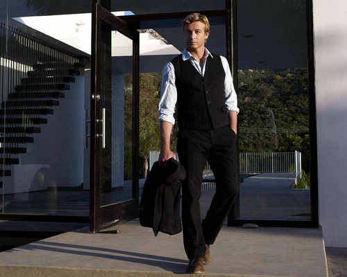 Simon Baker karatasi la kupamba ukuta containing a business suit, a suit, and a well dressed person called Simon Baker
