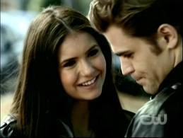 Stelena vs Delena پیپر وال containing a portrait entitled Stefan and Elena