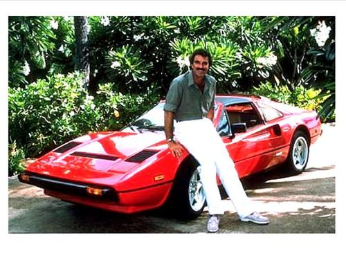 Magnum P.I. wallpaper possibly with a roadster, a sports car, and a convertible titled Tom Selleck is Magnum, P.I.