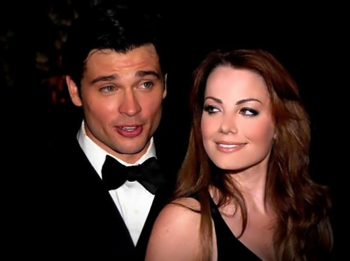 Clois वॉलपेपर entitled Tom Welling & Erica Durance