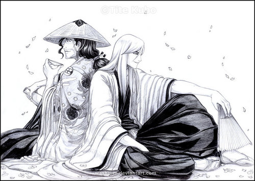 Ukitake and Shunsui - ukitake-jushiro Fan Art