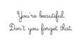 Ur Beautiful, Don't U 4get That 100% Real :) ♥