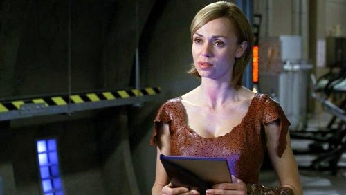 Stargate wallpaper possibly containing a chemise, attractiveness, and a bustier entitled Vanessa Angel