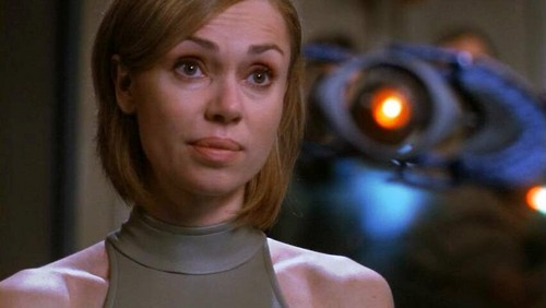 Stargate wallpaper probably containing a portrait called Vanessa Angel