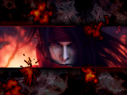 Vincent Valentine वॉलपेपर containing a fire, a fire, and ऐनीमे entitled Vincent <3