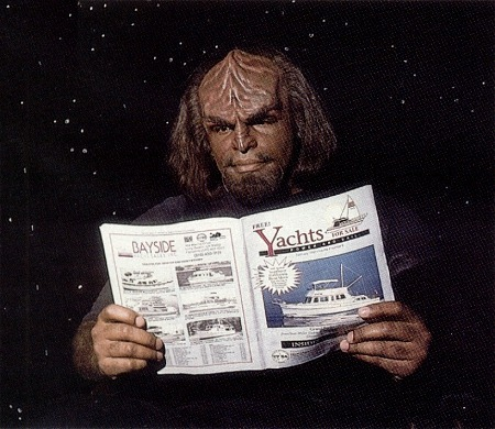 Worf looking to buy a yacht