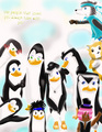 characters of my new comic - penguins-of-madagascar fan art