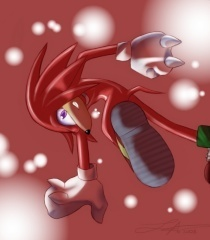 Knuckles the Echidna wallpaper entitled hot head