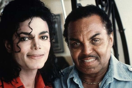 michael jackson with his father