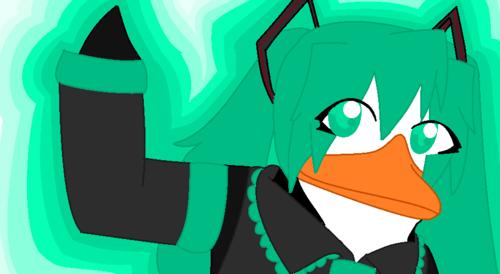 miku hatsune पेंगुइन style