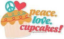 peace, love, bolo de copo