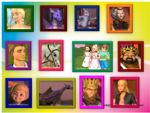 rapunzel characters in wall frames by coolgirl15