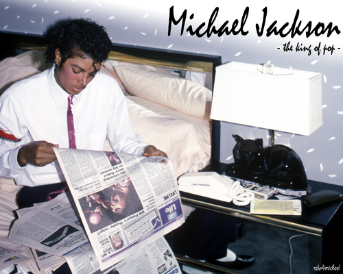 Michael Jackson wallpaper containing a newspaper called wall