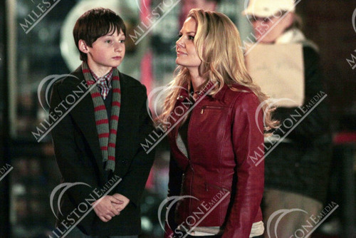 """2011, March 25 - Jennifer Morrison and Jared Gilmore on the set of """"Once Upon A Time"""""""