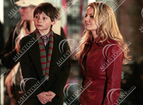 "2011, March 25 - Jennifer Morrison and Jared Gilmore on the set of ""Once Upon A Time"""