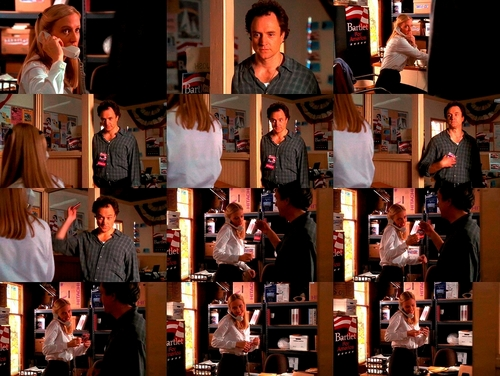 The West Wing wallpaper possibly containing a newsstand called 2x02- Josh and Donna