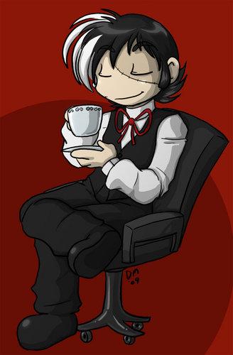 Black Jack - Enjoying Coffee