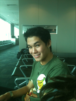 Booboo at the airport on the way to Perth
